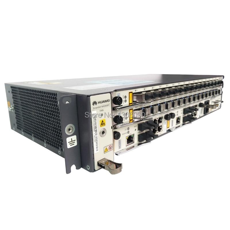 Huawei 19 inch mini OLT MA5608 with 1*MCUD1 1*MPWD 1*MPWC MA5608T Optical  Line Terminal 2U height