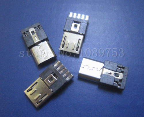 20Pcs New Micro USB Male 5Pin Socket Connector Wire-type DIY