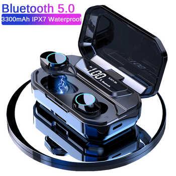 G02 TWS 5.0 Bluetooth 6D Stereo Earphone Wireless Earphones IPX7 Waterproof Earphones 3300mAh LED Display Smart Power Bank - DISCOUNT ITEM  60% OFF All Category