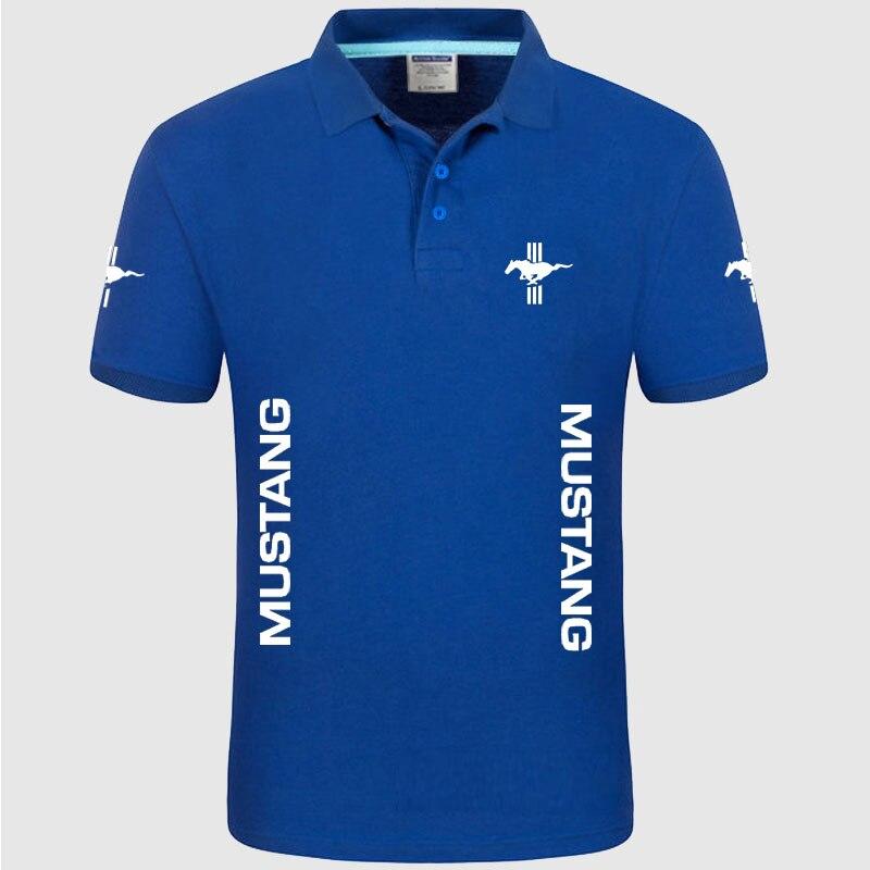 Summer High quality brand Mustang logo   polo   short sleeve shirt Fashion casual Solid   Polo   Shirt unisex shirts