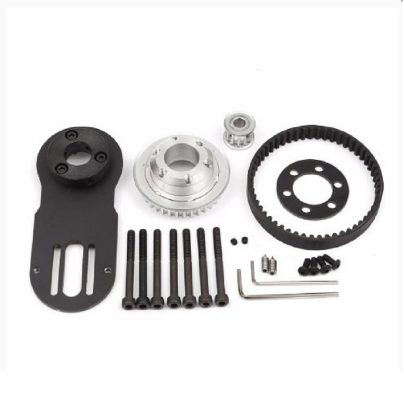 2019 New Arrival 83mm 90mm 97mm Electrical Skateboard 1800W Motor 5M Gear 270mm Belts Kit And Motor Mount Parts Riserpad