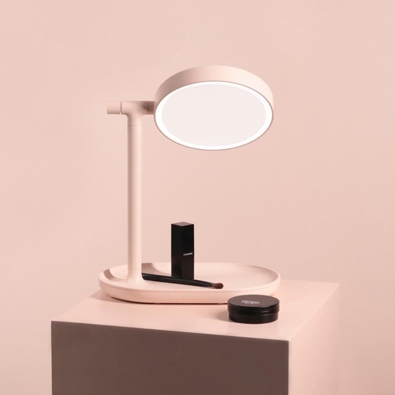 Зеркало для макияжа со светодиодной подсветкой, вращающееся на 270/180 градусов, двухстороннее, профессиональная настольная подставка, круглы