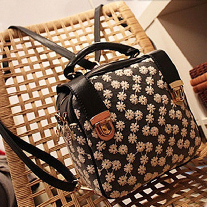 RU&BR New Popular PU Backpack Women Dandelion Lace Flower Shoulders Bags Travel Backpack For Women School Student Teenager Girl 2017 new brand ballet girl embroidery drawstring pu women leather ladies backpack shoulders school travel bags student daypack
