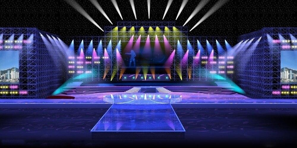 New Professional Led Stage Lights 18 Rgb Par Dmx Lighting Effect Dmx512 Master Slave Flat For Dj Disco Party Ktv