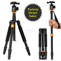 Hot Q999s Professional Photographic Portable Tripod To Monopod+Ball Head For Digital SLR DSLR Camera Fold 35cm Max Loading 15Kg