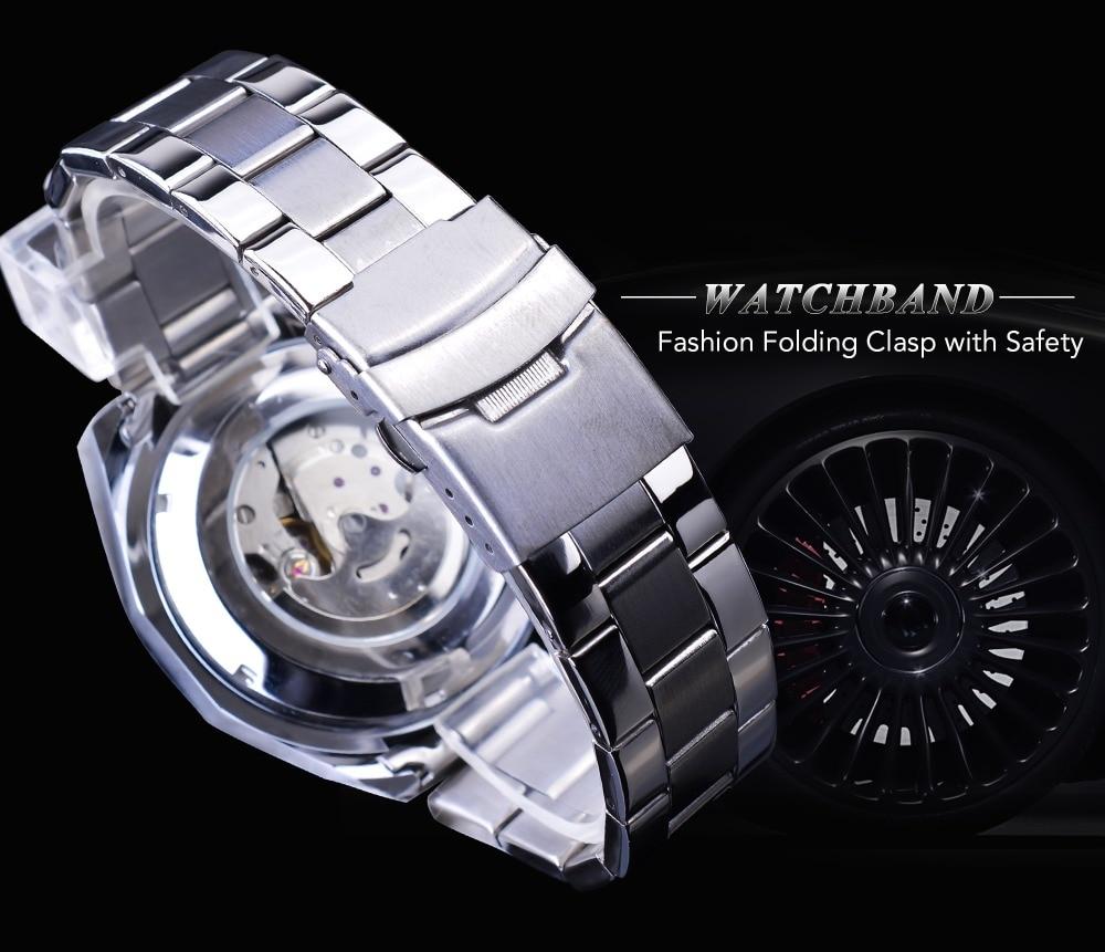 HTB1iqOUJYvpK1RjSZPiq6zmwXXaJ Forsining Blue Ocean Design Silver Steel 3 Dial Calendar Display Mens Automatic Mechanical Sport Wrist Watches Top Brand Luxury