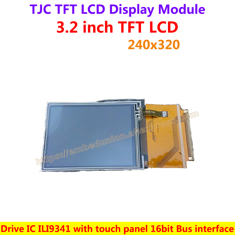 US $15 66 |TJC 3 2inch TFT LCD screen With touch panel 240*320 Color LCD  Drive IC ILI9341-in Demo Board from Computer & Office on Aliexpress com |