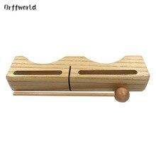 Orff World, деревянная игрушка в форме подушки, Детская перкуссия, инструмент, детский Хлопушка, игрушка для раннего образования, развивающая интерес