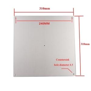 Image 5 - CR10 24V 220Wการพิมพ์ขนาดใหญ่ขนาดอลูมิเนียมเตียงอุ่นอัพเกรดความร้อนที่พักอาศัยF/ Creality CR 10 310*310*3 มม.3Dเครื่องพิมพ์