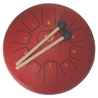 MEIBEITE Creative 12 Inch 11 Tone Steel Tongue Drum Set Water Based Paint Surface Drum Music Instrument For Children Learning