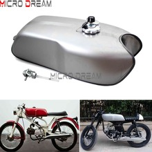 Universal 9L 2.4 Gallon Motorcycle Retro Gas Tank Cafe Racer Fuel Tanks For Harley Honda CG125 CG125S CB250 CB750 XS650 K100RS 3different colors matte black matte black silver motorcycle vintage fuel gas tank custom for honda cg125 cafe racer 2 4 gallon