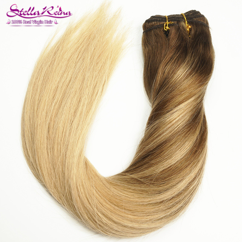 Balayage Ombre Highlights Blonde Hair Weaves Dark Roots 4