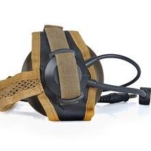 Z-TAC zSelex TASC1 Открытый Кемпинг односторонняя тактическая наушники для страйкбола охота наушники шлем Headse Z028
