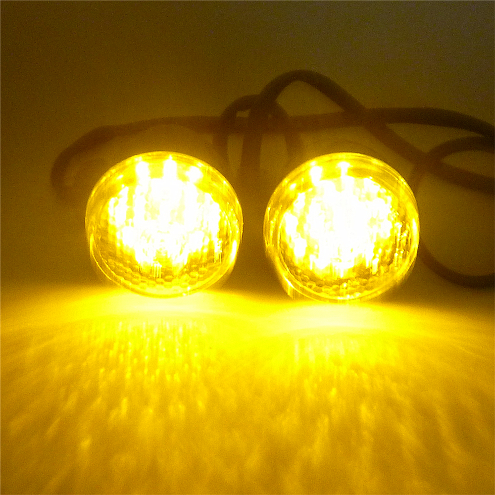 One Pair 12v Bullet Black Amber 20 Led Motorcycle Turn Signal Which Wires Of A Light Fixture Are Supposed To Connect The Indicator 2 Connection In Power Tool Accessories From Tools On