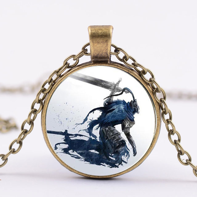 Online shop 3 colors 2017 new artorias and sif dark souls necklace 3 colors 2017 new artorias and sif dark souls necklace jewelry glass dome pendant necklaces gifts men aloadofball Choice Image