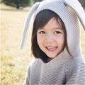Novo 2017 Crianças Blusas de Malhas De Algodão Das Meninas Dos Meninos Camisola com Capuz Orelhas de Coelho Camisola Crianças Roupas de Inverno Infantil