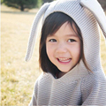 Nuevo 2017 Niños Suéteres de Orejas de Conejo de Las Muchachas de Suéter con Capucha de Lana Tejido de Punto de Algodón de Invierno Suéter Infantil Ropa Para Niños