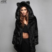 Fur Coat Female Fashion New Womens Fashion Winter Faux Fox Fur Hooded Leather Thick Outwear Padded Trench Parka S ~3XL 61