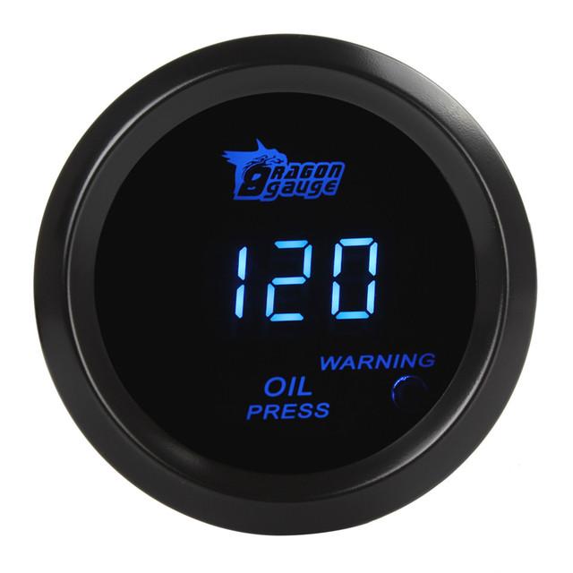 Universal Digital Blue LED Eletrônico 1-120 Sensor de Pressão do Óleo de Imprensa Bitola PSI EngineTest Kit Para Carros/Caminhões