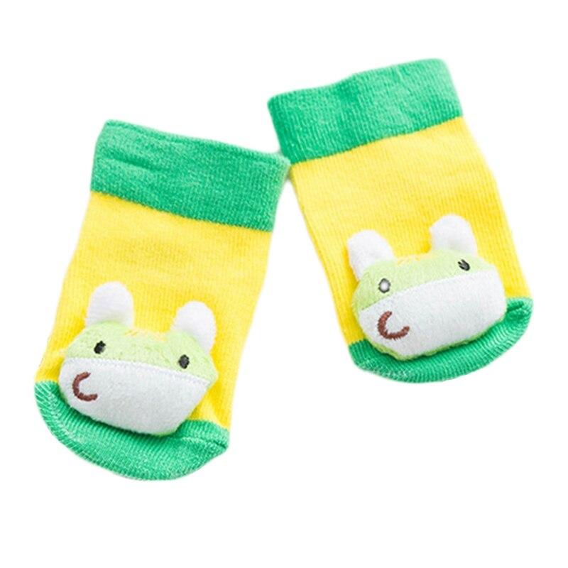 Милые животные Детские носки нескользящей резиновой подошвой Носки для маленьких девочек и мальчиков мультфильм новорожденных детские но...