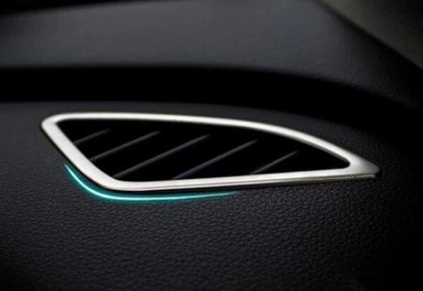 Chrome Car Dashboard Air Outlet Cover Frame Trim Car Air