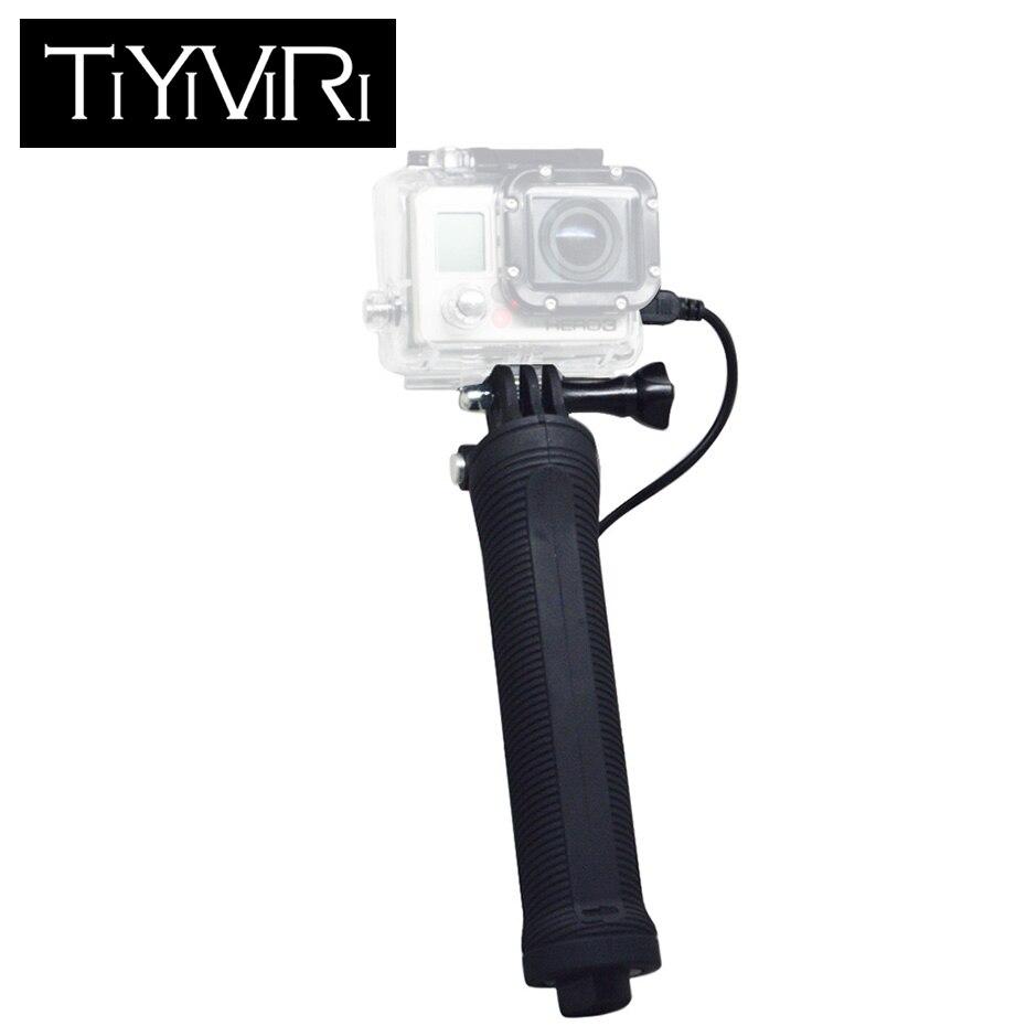 Portable Mobile Power Bank Grip Handheld Monopod Mini Selfie Stick for Gopro Hero 6 5 4 3 Xiaomi yi 4K 3300mAh Battery Charger yi yi 20000mah external battery charger power bank for amazon kindle touch kindle 3 4 white