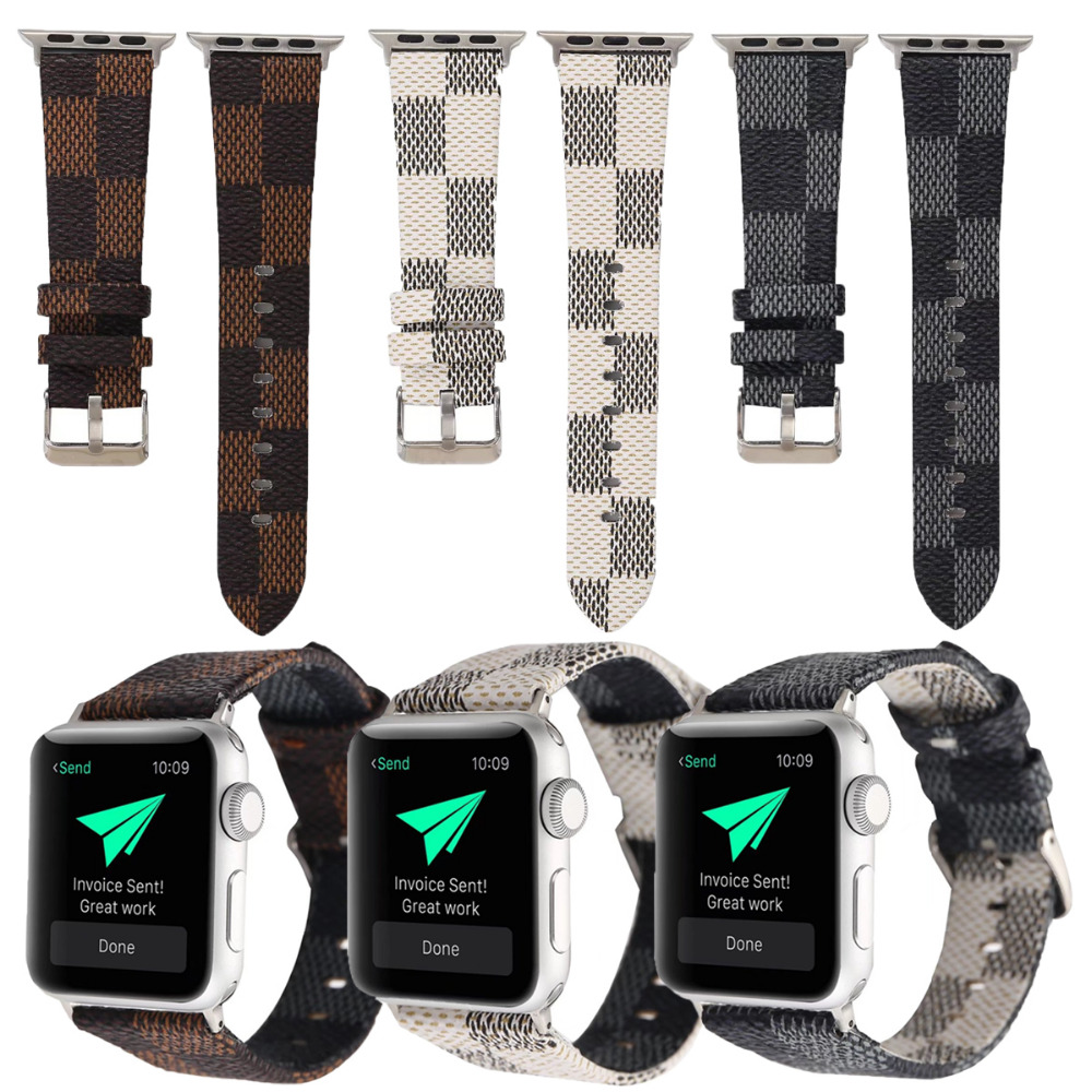 Wrist Watch Band Leather Strap for 38/42mm Apple Watch iwatch Loop Belt Strap Replacemen For iwatch Series 3/2/1 woven nylon sports band for apple watch outdoors survival strap belt for 38 42mm iwatch series 1 2 3 men s wrist bracelet i71