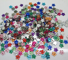 1000Pcs Mixed Acrylic Flower Decoration Crafts Cabochon Scrapbooking Embellishments Flatback Nail Art Garment Beads DIY