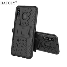 For Samsung Galaxy M30 Case Rubber Silicone Armor Hard PC TPU Cover for Phone