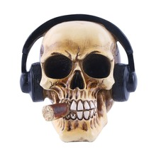 MRZOOT Resin Craft Statues For Decoration Skull Wearing Headphones Music Bar Creative