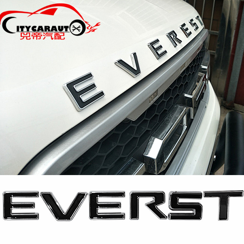 CITYCARAUTO 3D Car Styling 'Everest Front Engine Hood Logo 3D Emblem Sticker Fit for FORD Everest  2013-2017 Accessories hot sale 1pc longhorn hilux 900mm graphic vinyl sticker for toyota hilux decals badges detailing sticker car styling accessories
