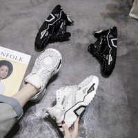 5cm Chaussures plateforme baskets chunky Chaussures papa baskets blanc Chaussures Femme Chaussures Femme Buty Damskie