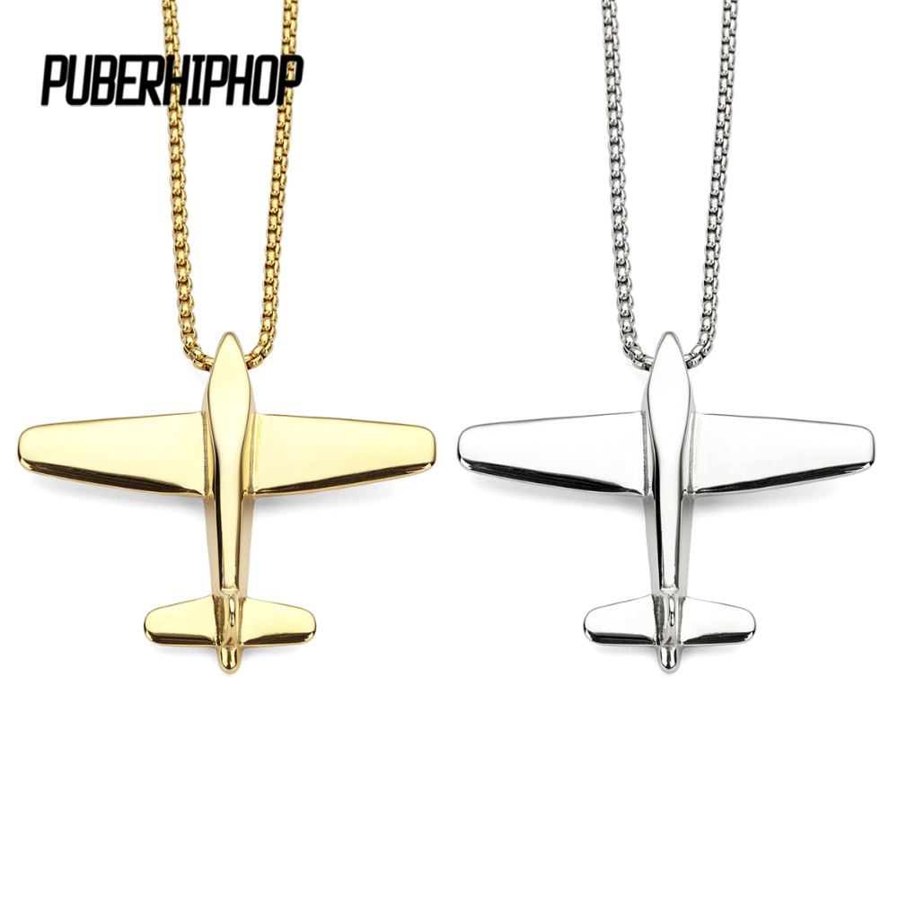 Aircraft Pendant Airliner Plane Necklace Fashion Airplane Jewelry Gold