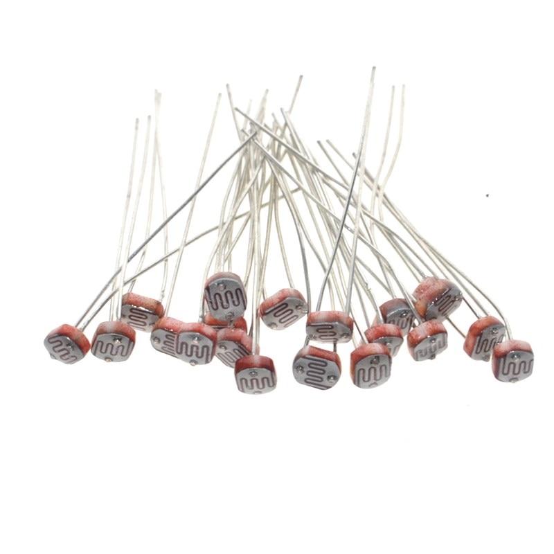 20 pces x 5528 luz dependente resistor ldr 5mm photoresistor atacado e varejo resistência fotocondutora para arduino