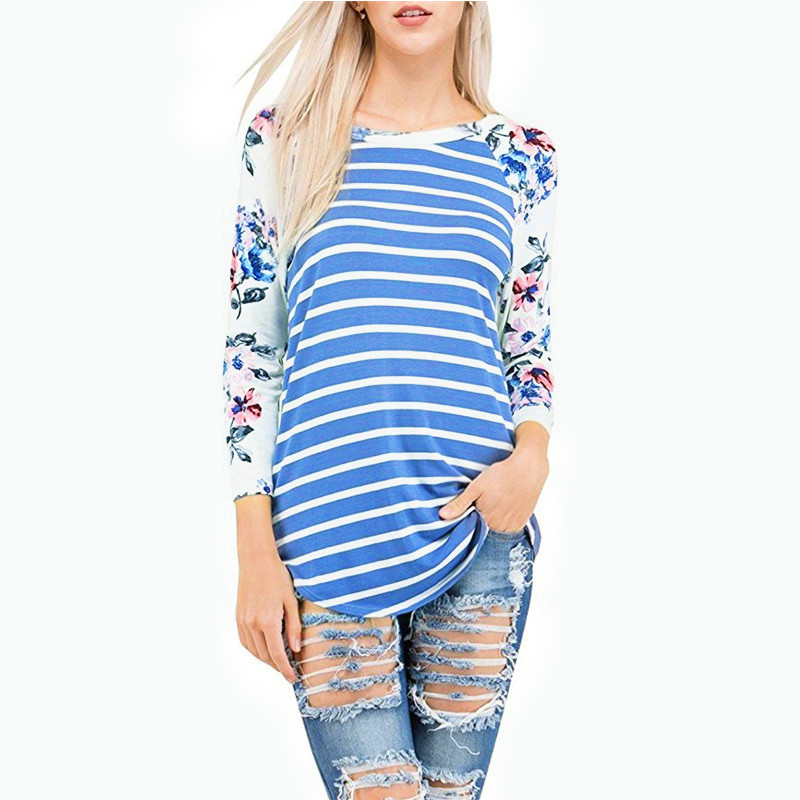 Phertiful Spring Autumn Women Long Sleeve Size S-XXXL Casual Top Tees  Pullovers New Fashion Striped O Neck Feminino