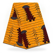 New African Cotton Ankara Wax Printed Fabrie For Kitenge Dress Sewing 6 Yards Fabric YBGHL-289
