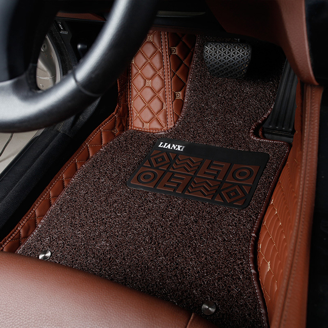 Design Your Own Car DIY Waterproof Cusom Fit Artificial Leather Floor Wir Mats For X3