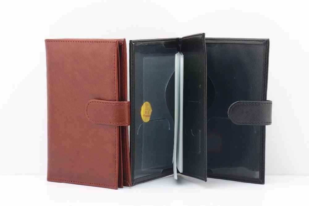 Zongshu pochette de passeport en cuir PU, support de passeport en cuir multifonction pour les documents de pilote (acceptation personnalisée
