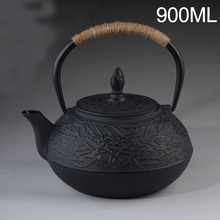 Japanese Iron Teapot Cast Iron Tea Kettle Drinkware Kung Fu Tools with Stainless Steel Strainer Tea Pot 900ml
