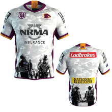 9718b0f83ff 2019 2020 NRL NEWEST Brisbane Broncos rugby jerseys beautiful white ANZAC  JERSEY 2019 BRONCOS RUGBY SHIRT