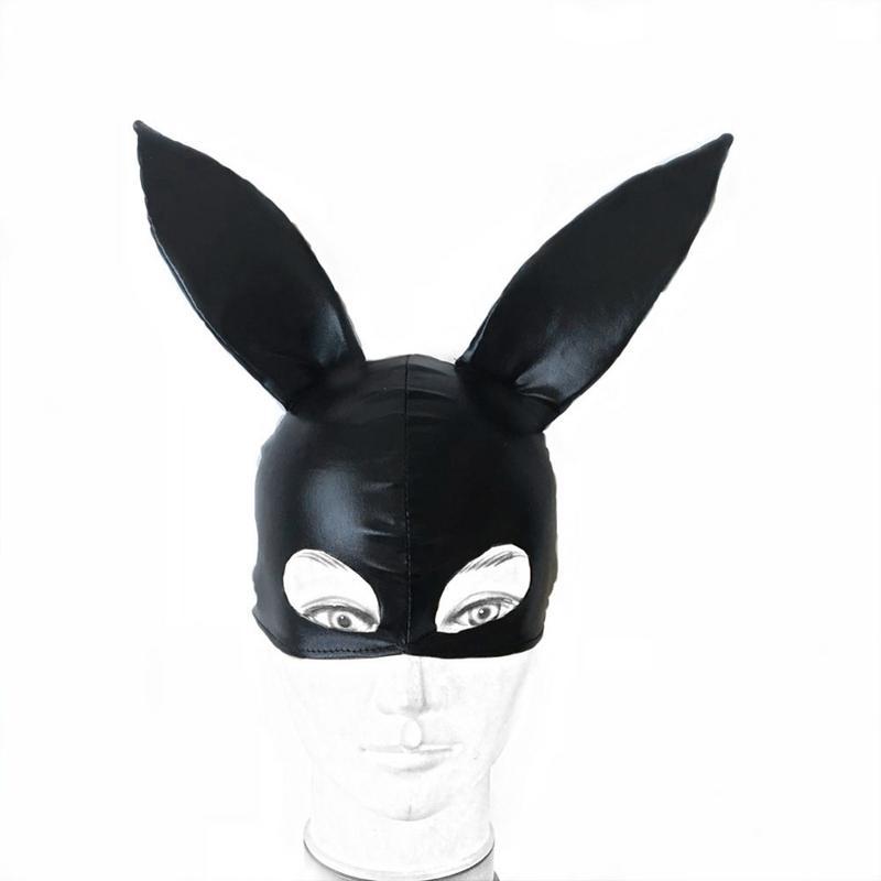 Buy Women Mask Sexy Lingerie Adult sex rabbit ear cover body feminino accessories Eye Bondage Mask costumes sexy rabbit ear cover