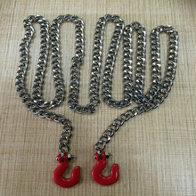 rc parts Chain Cable Traction rope Hook for 90027 90028 CC01 D90 TF2 F350 WRAITH Traxxas X-maxx SCX10 90cm