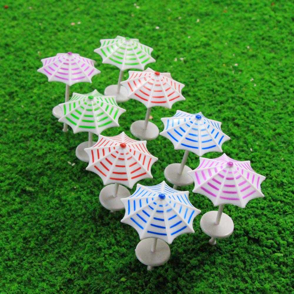 16 قطعة نموذج قطار السكك الحديدية مظلة واقية من الشمس المظلة 1:50-1:200 O OO TT N Z مقياس حديقة شاطئ البحر TYS13 نموذج مظلة بلاستيكية