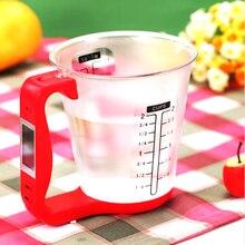 Digital Tasse Skala Elektronische Messgeräte Haushalt Krug Waagen mit LCD Display & Temp Messung messbecher Küchenwerkzeuge