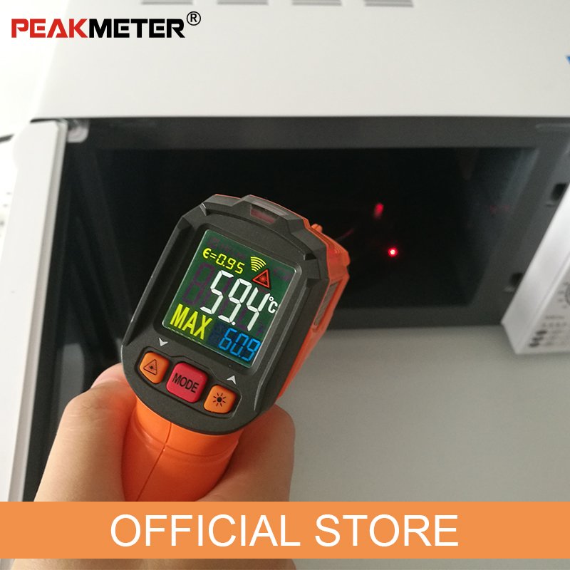 Image 5 - PEAKMETER PM6519B Laser LCD Digital IR Infrared Thermometer 