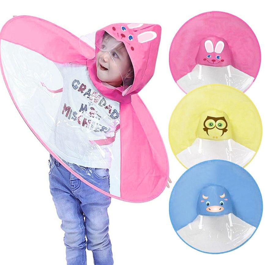 f602a954a7b8b Foldable Cute Animal Rain Coat UFO Children Umbrella Hat Magical Hands  Raincoat M S Dropshipping July 5-in Raincoats from Home   Garden on  Aliexpress.com ...