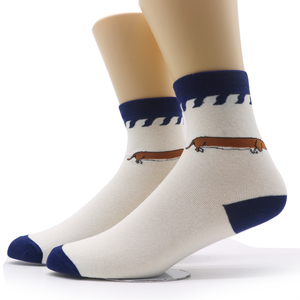 Image 5 - 1pair Mens Funny Socks Gradient Color Cotton Socks Art Casual Dress Crew Socks for Male Geometry Novelty Compression Sock Meias