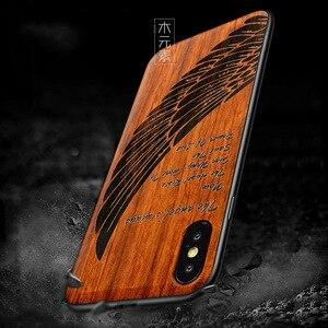 Image 5 - Novo para o iphone xs max caso de madeira fina capa traseira tpu pára choques caso para iphone xs xr x iphone xs max casos de telefone