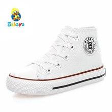 Детская обувь для девочек парусиновая обувь кроссовки для мальчиков 2018 Весна Осень обувь для девочек белый, мода детская обувь