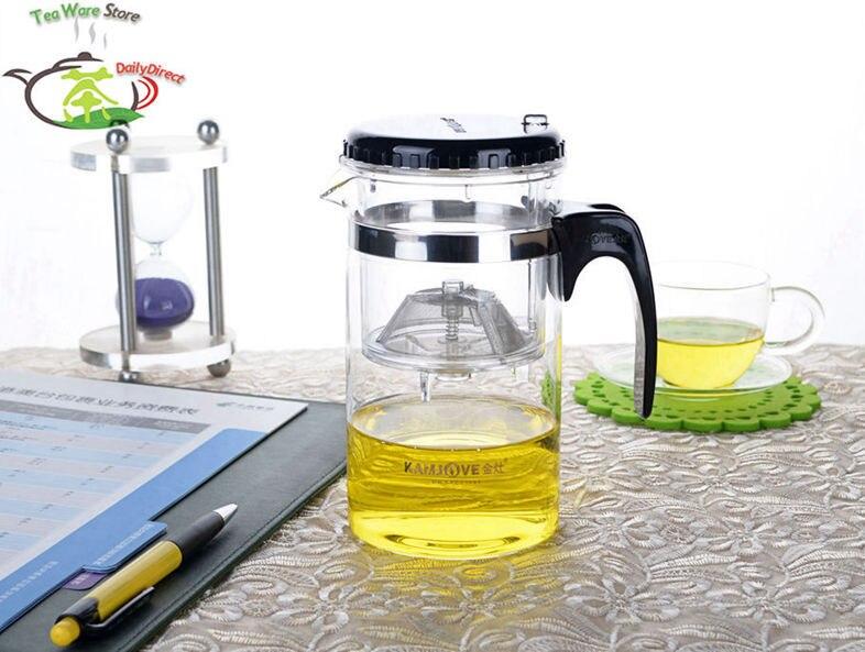 1x Kamjove Heat Resistant <font><b>Glass</b></font> Teapot Piaoyi Flower Teacup 500ml/17fl.oz TP160 Chinese Kungfu Tea Pot Office Tea cup